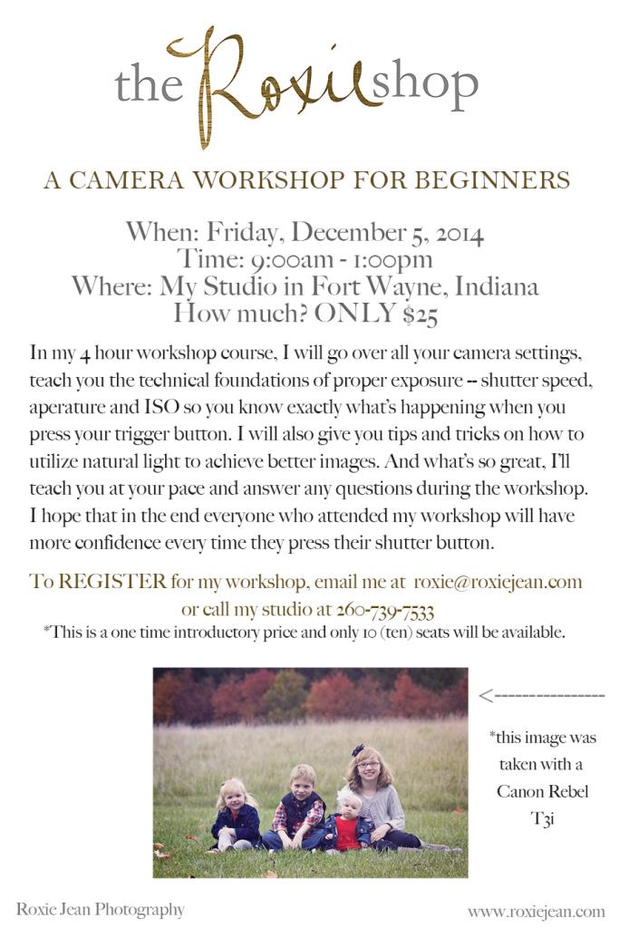 Workshop flyer a
